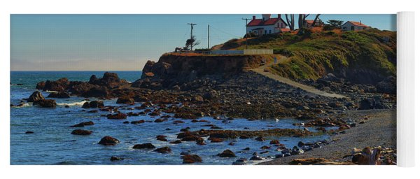 Crescent City Battery Point Lighthouse Yoga Mat