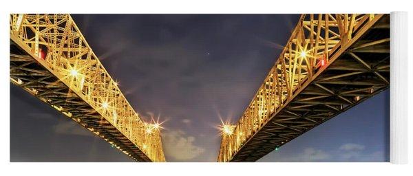 Crescent City Bridge In New Orleans Yoga Mat