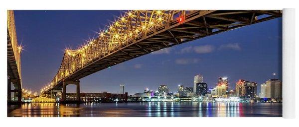 Crescent City Bridge, New Orleans Yoga Mat
