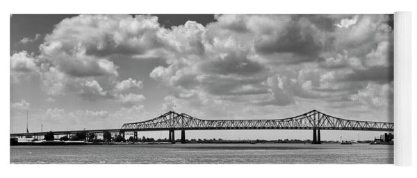 Crescent City Connection In Black And White Yoga Mat