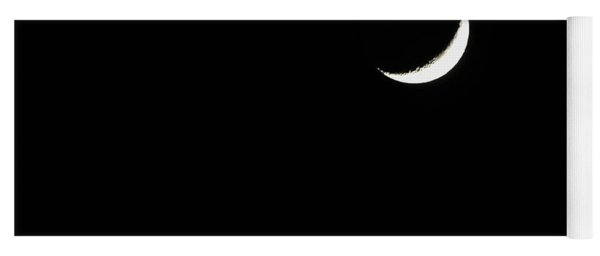 Yoga Mat featuring the photograph Crescent Moon  by Alison Frank