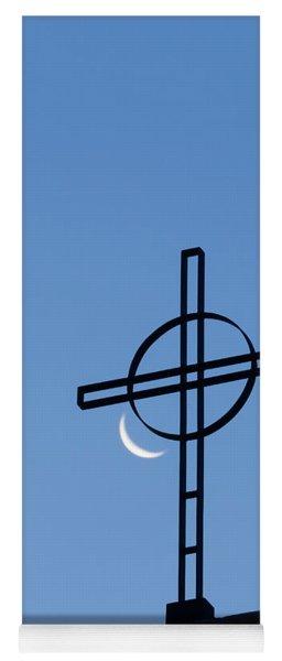 Crescent Moon And Cross Yoga Mat