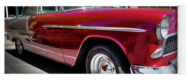 Crimson And Gray 1955 Chevy Yoga Mat