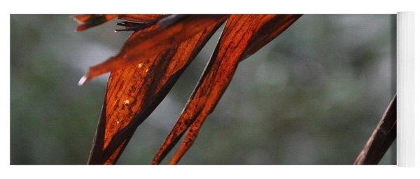 Crimson Leaf In The Amazon Rainforest Yoga Mat