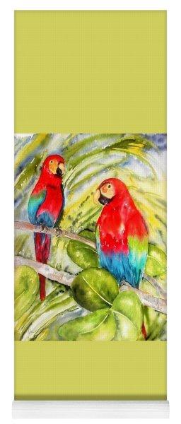 Crimson Macaws Yoga Mat