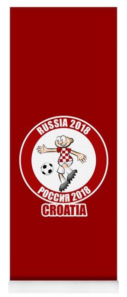 Croatia In The Soccer World Cup Russia 2018 Yoga Mat