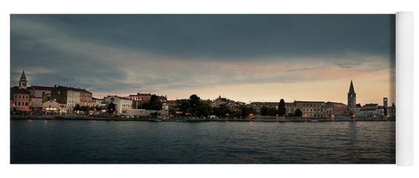 Croatian Town Of Porec At Dusk Yoga Mat