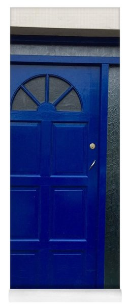 Crooked Blue Door In  Ireland  Yoga Mat