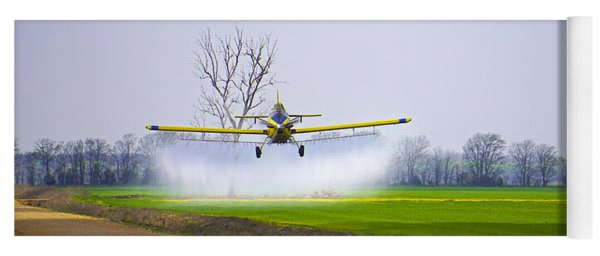 Precision Flying - Crop Dusting 1 Of 2 Yoga Mat