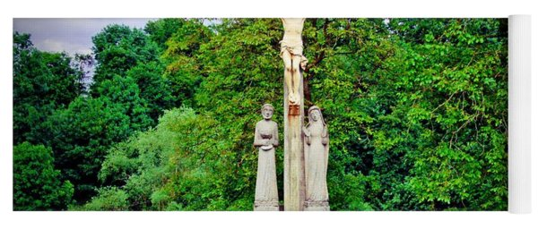 Cross In The Country - Saint Mihiel, France Yoga Mat