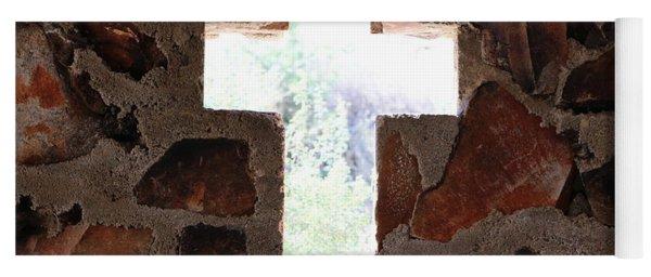 Cross Shaped Window In Chapel  Yoga Mat