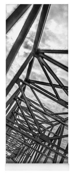 Yoga Mat featuring the photograph Crossing Through The Chesapeake Bay Bridge by T Brian Jones
