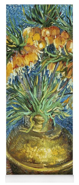 Crown Imperial Fritillaries In A Copper Vase Yoga Mat