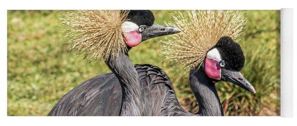 Crowned Cranes Yoga Mat