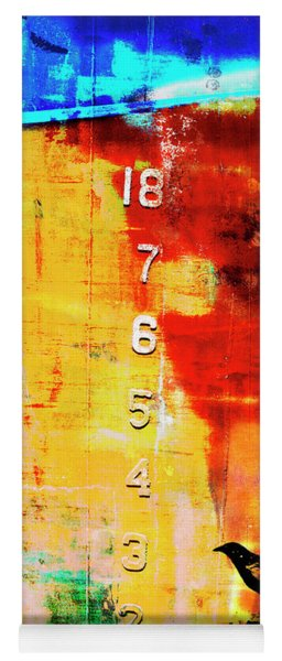 Crows By The Numbers Mixed Media Yoga Mat