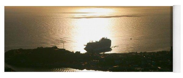 Cruise Ship At Sunset Yoga Mat