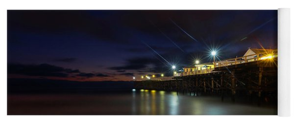 Crystal Beach Pier Blue Hour  Yoga Mat