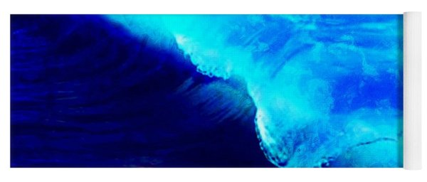 Crystal Blue Wave Painting Yoga Mat