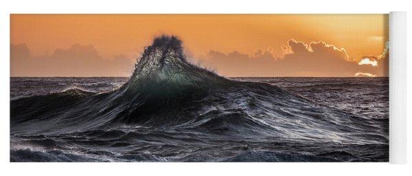 Crystal Wave Sunset Napali Coast Kauai Hawaii Yoga Mat