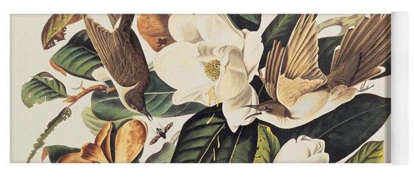 Cuckoo On Magnolia Grandiflora Yoga Mat