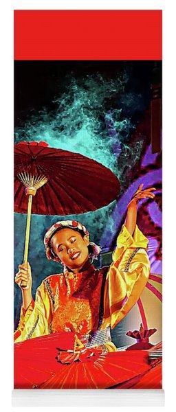 Cultural Parasol Dance Yoga Mat