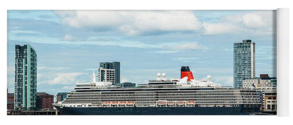 Cunard's Queen Elizabeth At Liverpool Yoga Mat