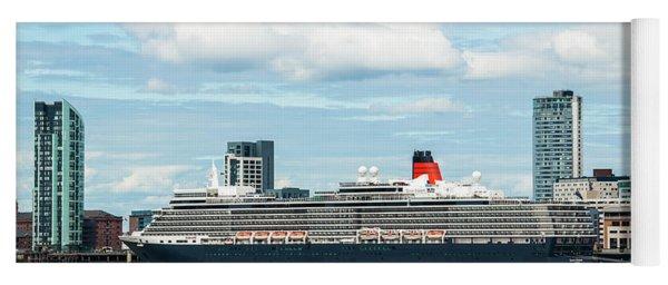Cunard's Queen Elizabeth At Liverpool Yoga Mat