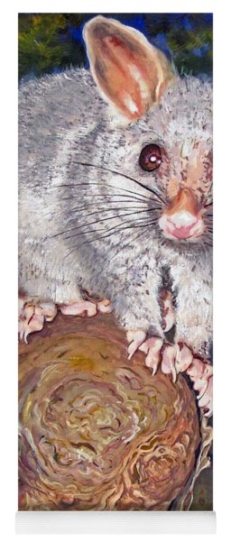 Curious Possum  Yoga Mat