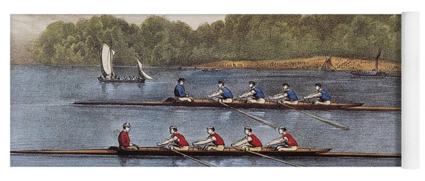 Currier & Ives: Rowing Contest Yoga Mat