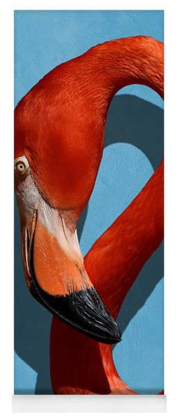 Curves, A Head - A Flamingo Portrait Yoga Mat