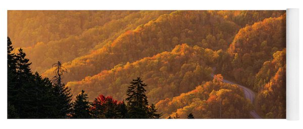 Smoky Mountain Roads Yoga Mat