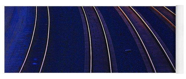 Curving Railroad Tracks Yoga Mat