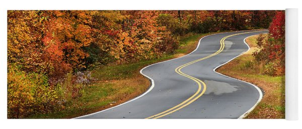 Curvy Road In The Mountains Yoga Mat
