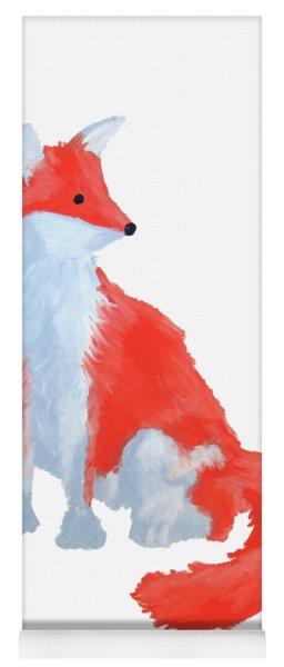 Cute Fox With Fluffy Tail Yoga Mat