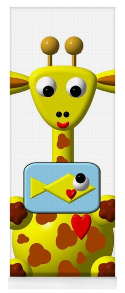Cute Giraffe With Goldfish Yoga Mat