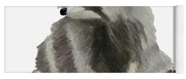 Cute Raccoon Yoga Mat