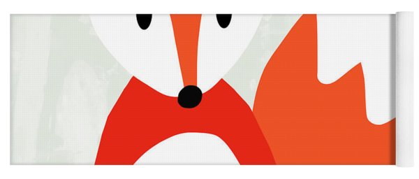 Cute Red And White Fox- Art By Linda Woods Yoga Mat