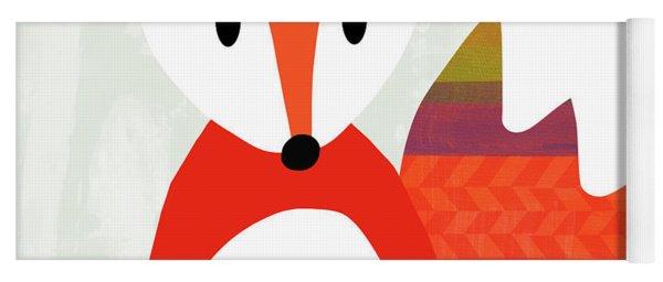 Cute Red Fox 2- Art By Linda Woods Yoga Mat