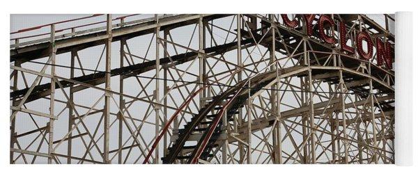 Cyclone Roller Coaster Coney Island Ny Yoga Mat