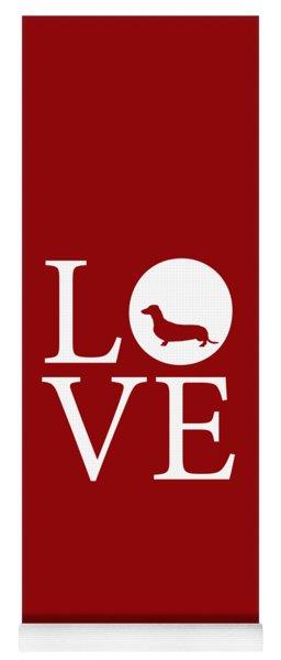 Dachshund Love Red Yoga Mat