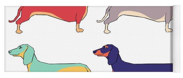 Dachshunds Yoga Mat