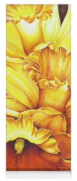 Daffodil Drama Yoga Mat