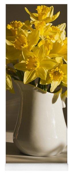 Daffodil Filled Jug Yoga Mat