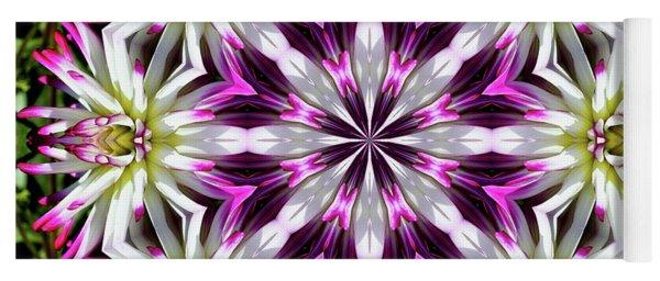 Dahlia Flower Circle Yoga Mat
