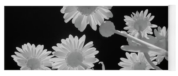 Daisies In Infrared Yoga Mat
