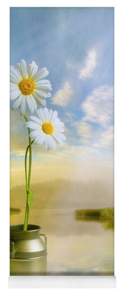 Daisies In The Summer Morning Yoga Mat