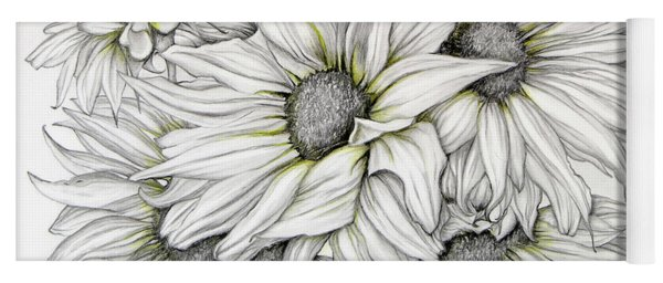 Sunflowers Pencil Yoga Mat
