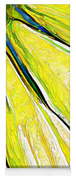 Daisy Petal Abstract In Lemon-lime Yoga Mat