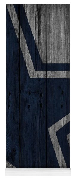 Dallas Cowboys Wood Fence Yoga Mat
