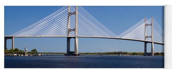Dames Point Bridge Yoga Mat